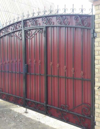 фото кованые ворота в Донецке 004