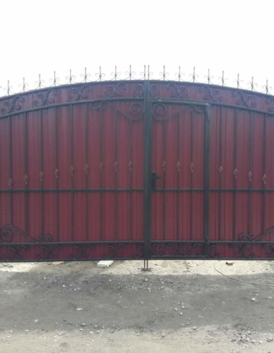 фото ворота из профнастила в Донецке 001