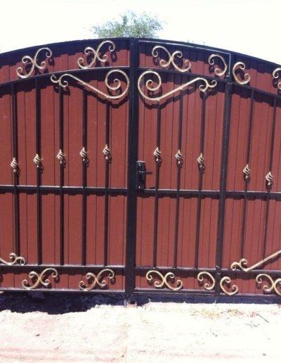 фото ворота из профнастила в Донецке 008