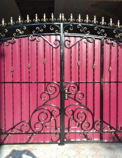 фото ворота с калиткой в Донецке 011
