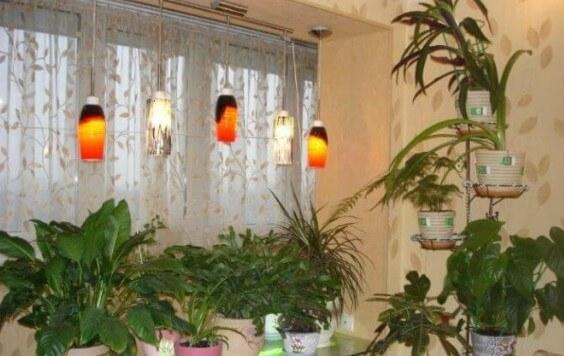 картинка освещение на балконе