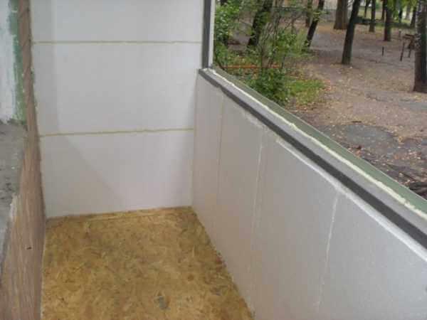 картинка утепление балкона пенопластом