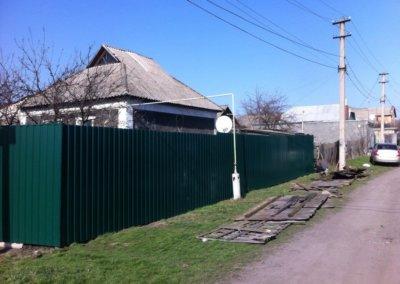 фото забор из профнастила в Донецке 001