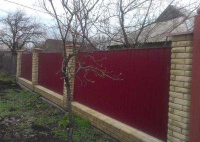 фото забор из профнастила в Донецке 002
