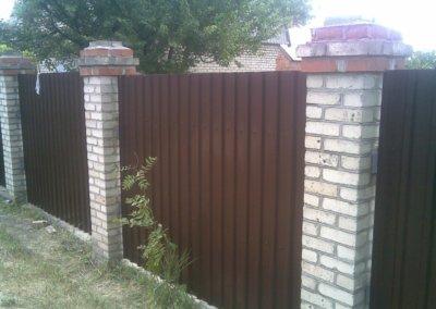 фото забор из профнастила в Донецке 003