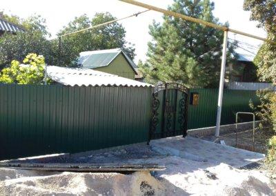 фото забор из профнастила в Донецке 004