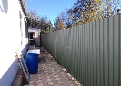 фото забор из профнастила в Донецке 005