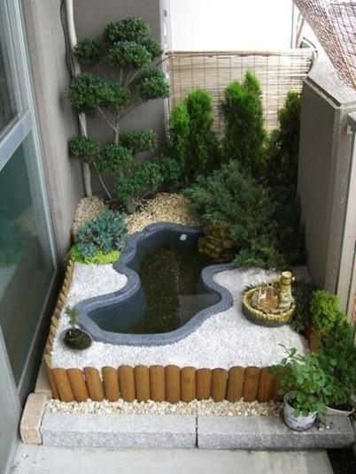 картинка пруд на балконе