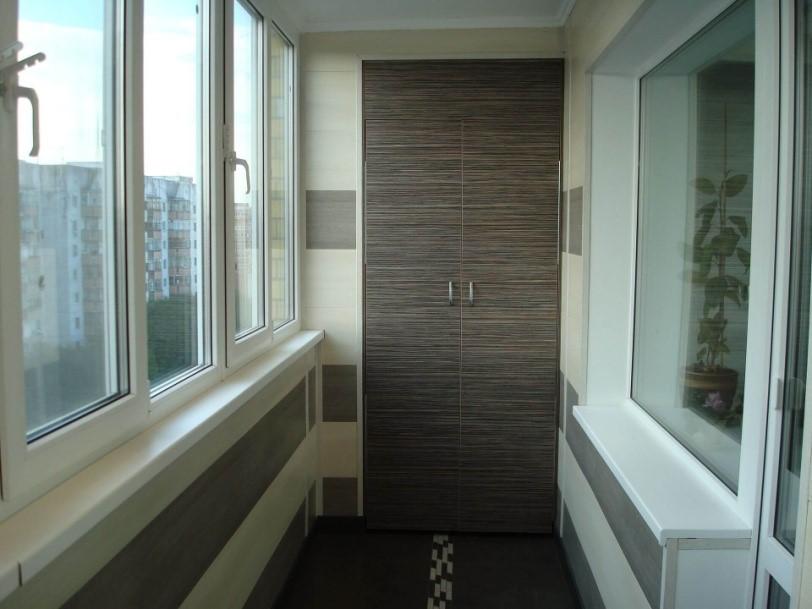 картинка Отделка балкона пластиковыми панелями ПВХ