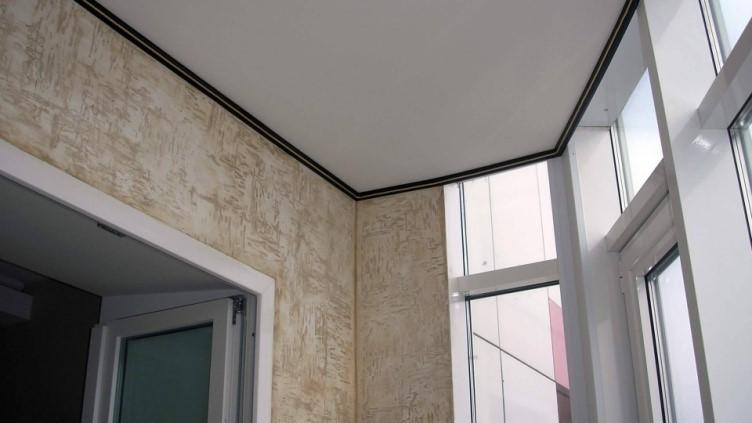 картинка отделка балкона декоративной штукатуркой