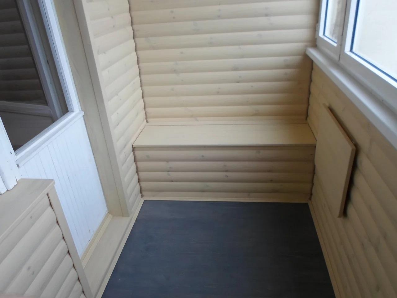 картинка отделка балкона блок-хаусом