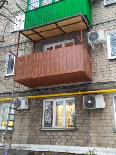 фото балкон под ключ в Макеевке пр Данилова работа Окна Проф 001