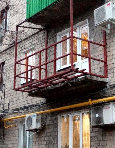 фото балкон под ключ в Макеевке пр Данилова работа Окна Проф 002