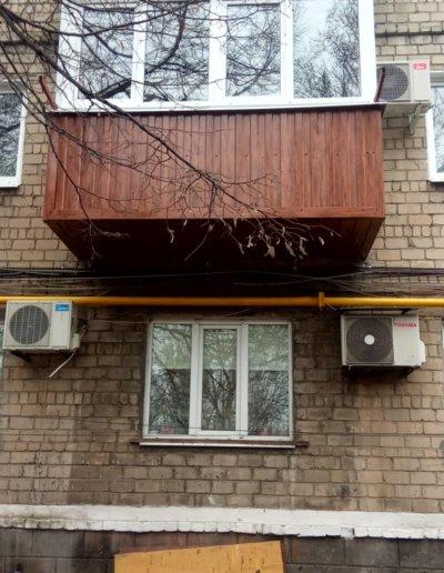 фото балкон под ключ в Макеевке пр Данилова работа Окна Проф 003
