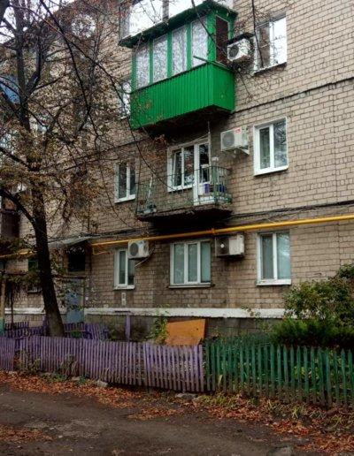 фото балкон под ключ в Макеевке пр Данилова работа Окна Проф 007