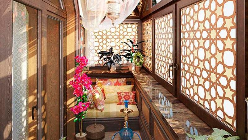 картинка балкон в японском стиле