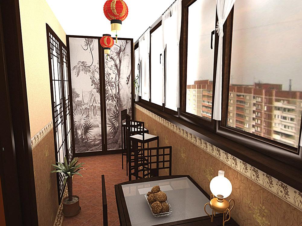 картинка балкон в китайском стиле