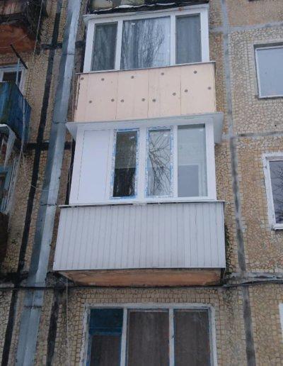 фото остекление балкона в Донецке ул Бирюзова д 23 ОкнаПроф 002
