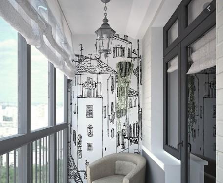 картинка освещение балкона