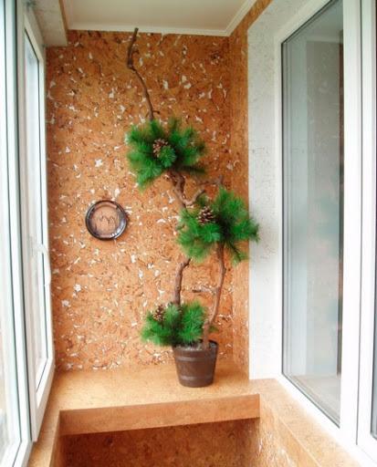 картинка пробковая штукатурка на балконе