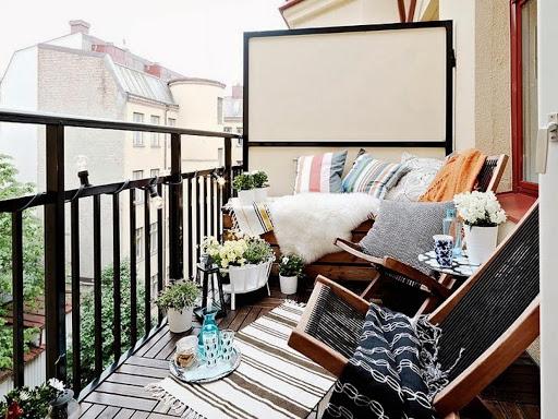 картинка оформление балкона в скандинавском стиле