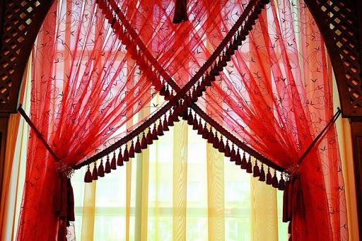 картинка занавески на балконе в восточном стиле