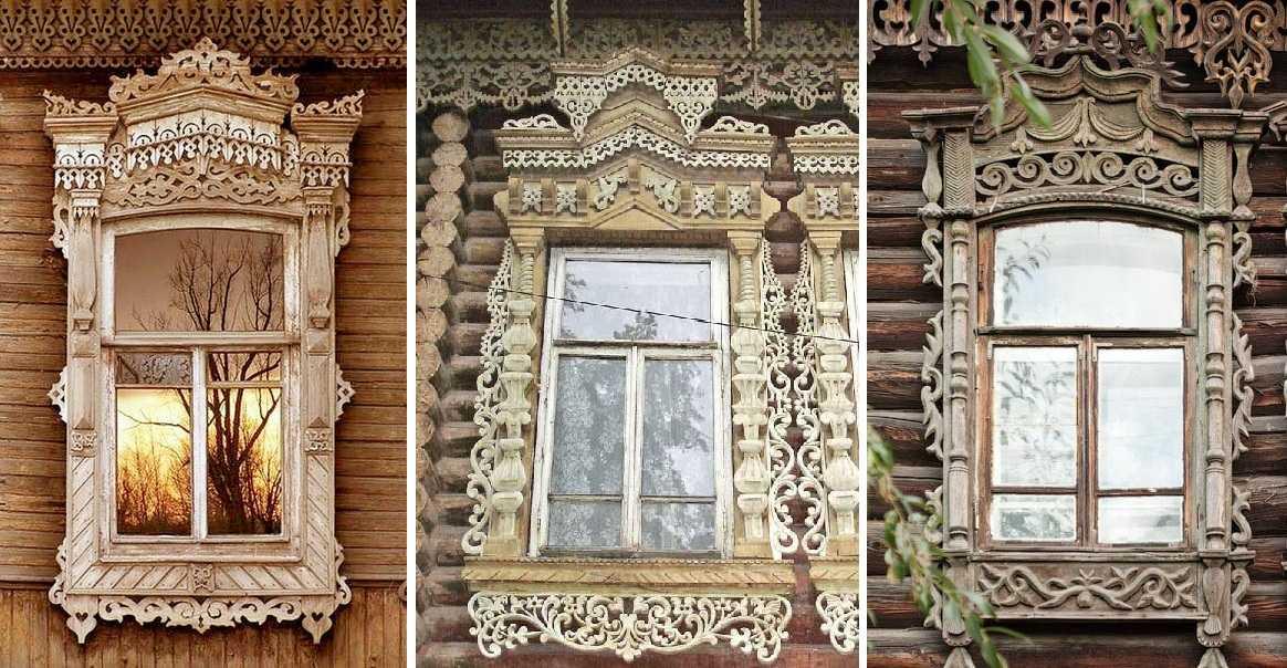 картинка резные наличники на окна в деревянном доме