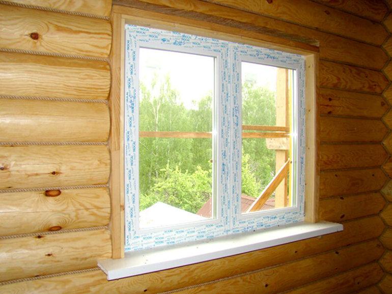 Отделка оконных проемов в деревянном доме