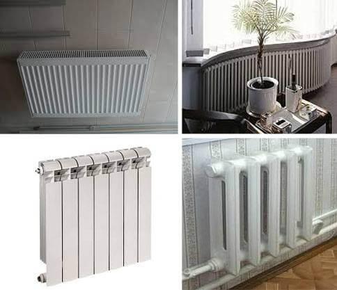 картинка виды радиаторов