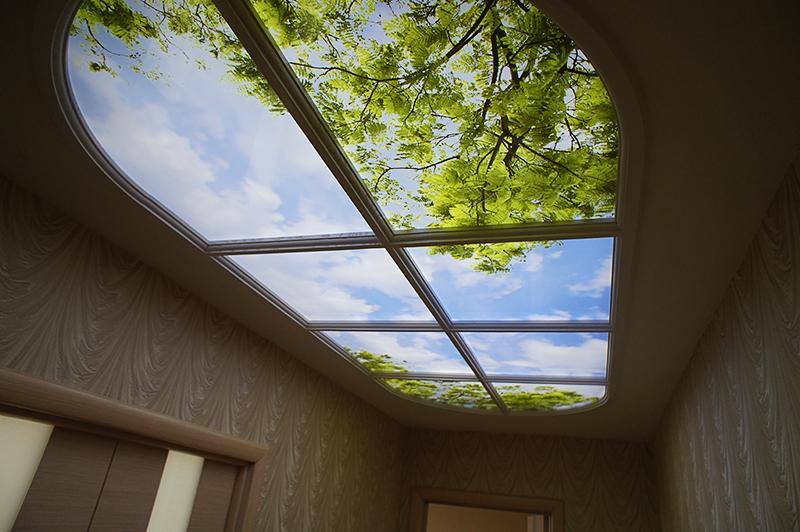 картинка фальш-окно потолочное