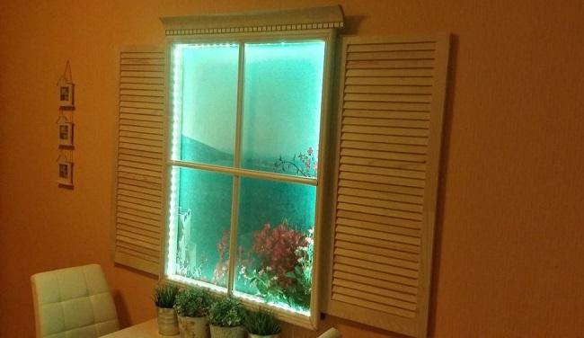 картинка Фальш-окно с подсветкой