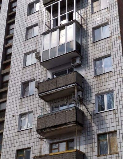фото балконы Макеевка ул Репина д 3 ОкнаПроф 002