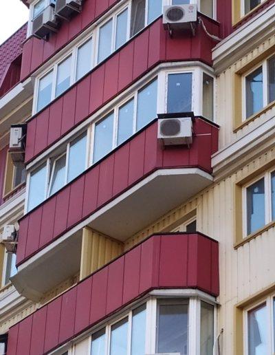 фото эркерный балкон Донецк ул Панфилова д 17 работа Окнапроф 001