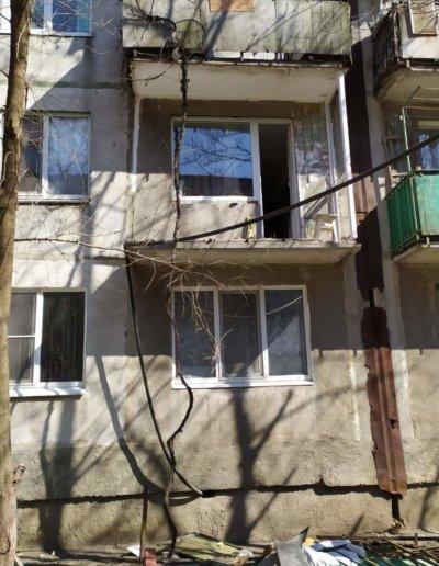 фото французский балкон в Харцызске мк-н Юбилейный установка ОкнаПроф 003