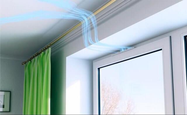 картинка окно с приточным клапаном