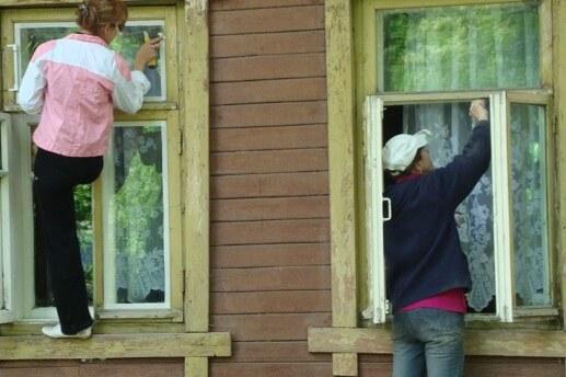 картинка утепление окон в деревянном доме