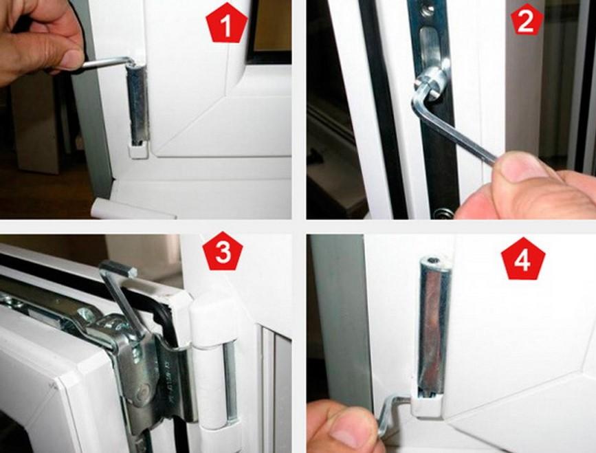 картинка регулировка окна шестигранным ключом