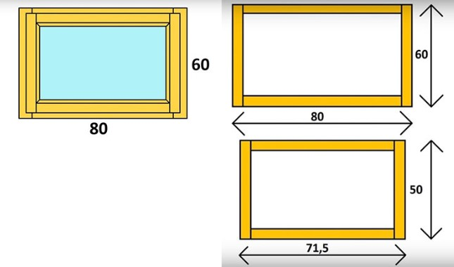 картинка схема окна 80/ 60 мм: