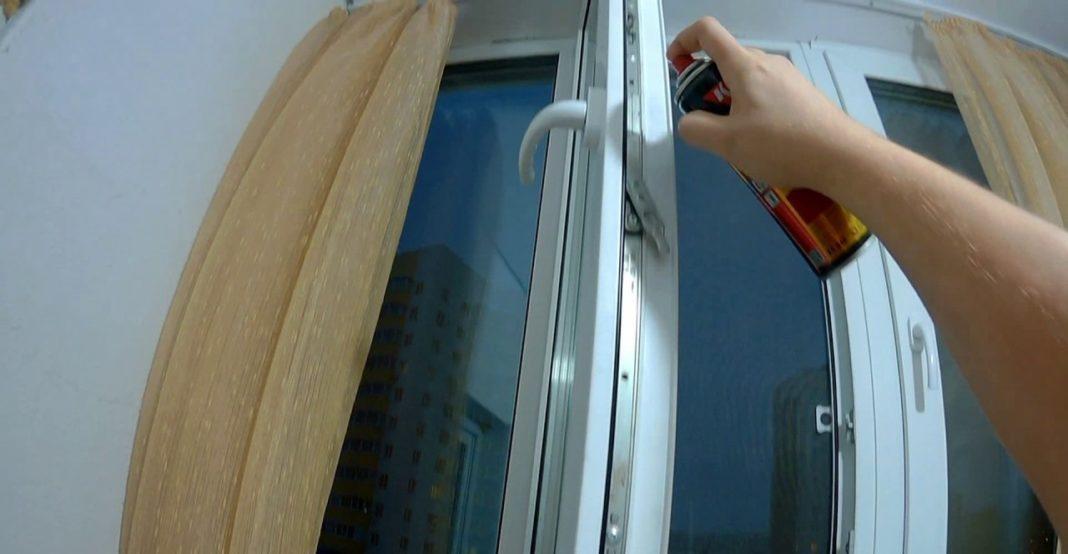 картинка смазывать окна ПВХ