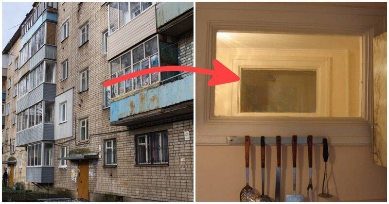 картинка окно между ванной и кухней в хрущевке