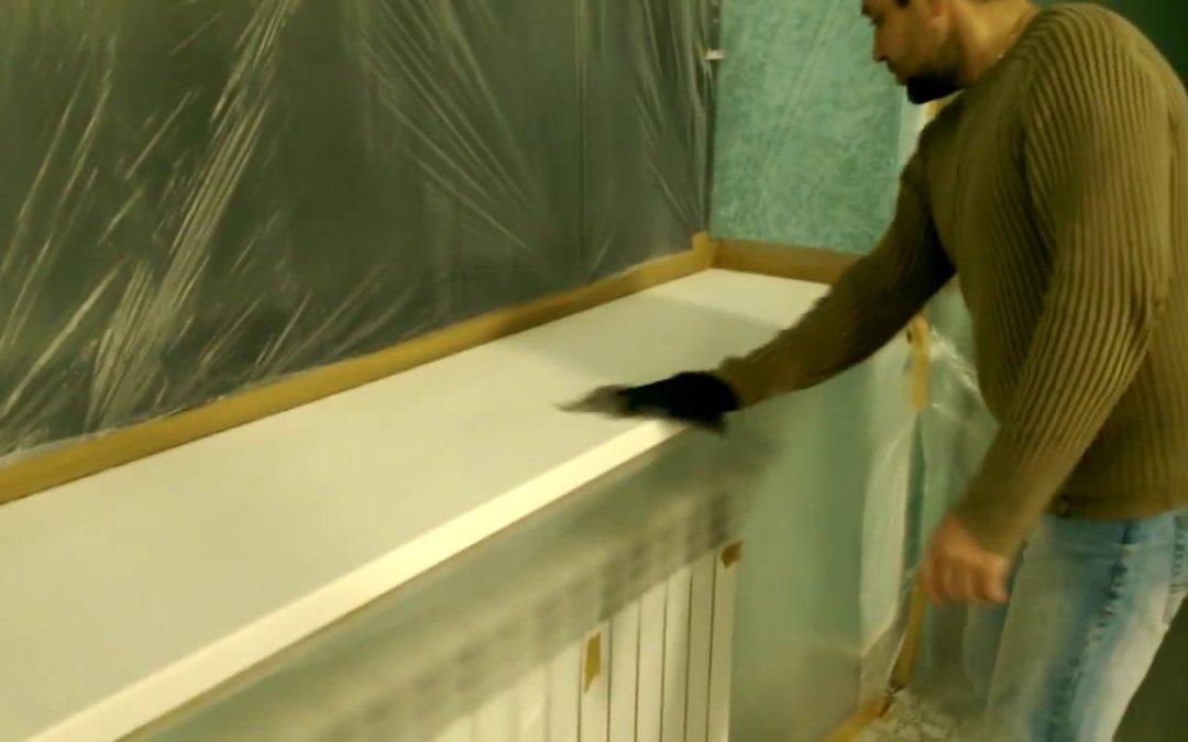 Покраска подоконника