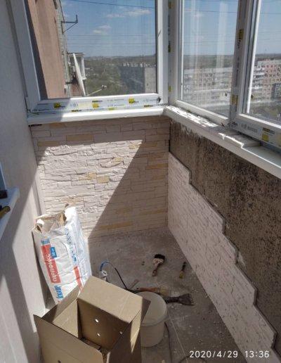 обшивка балкона Донецк ул Пухова 33 - 006
