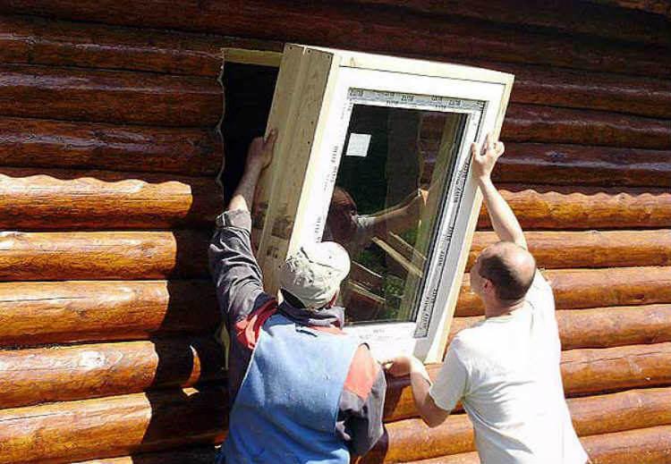 картинка окно в деревянный дом