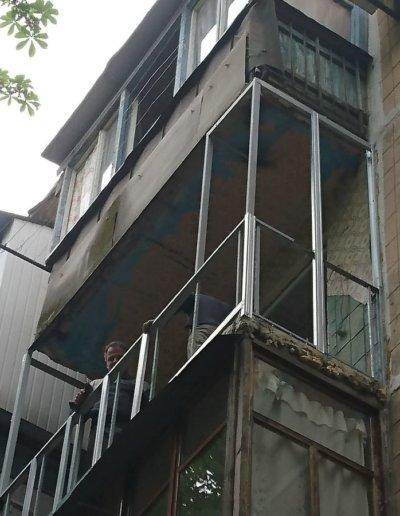 балкон под ключ в Донецке, ул Петровского д 258 -006