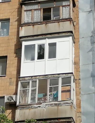 французский балкон Донецк, ул Щетинина дом 2 ОкнаПроф 002