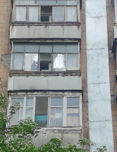 до ремонта французский балкон Донецк, ул Щетинина дом 2 ОкнаПроф 007