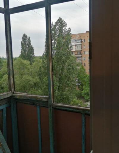 до ремонта французский балкон Донецк, ул Щетинина дом 2 ОкнаПроф 008
