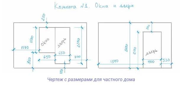 картинка чертеж с размерами для частного дома