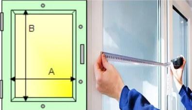 картинка как замерить стеклопакет