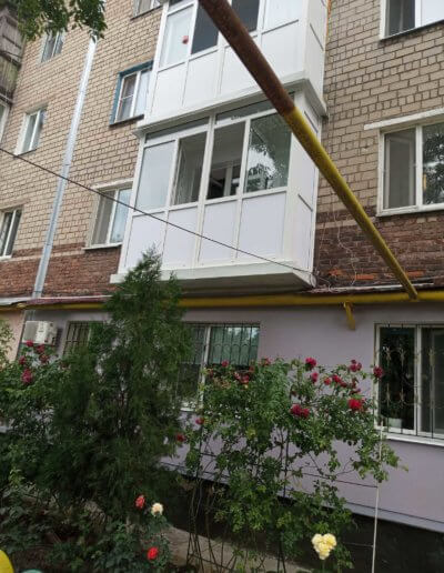 французский балкон: Макеевка 57-й квартал д 12 -002